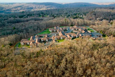 Aerial view of the Watermark at East Hill campus