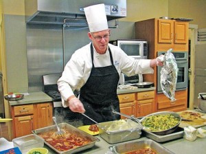 Jim Bain, director of dining services for The Watermark at East Hill.
