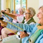 The Watermark at East Hill residents staying active through our Healthy Fit Program.