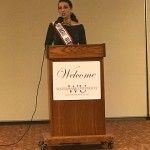 Stacy Perrone-Petta speaking about Patriots' Day at Watermark