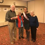 Stacy Perrone-Petta pictured with Watermark at East Hill residents, who enjoyed her presentation and performance.