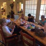 The Watermark at East Hill: Residents, associates, and volunteers making twiddle muffs.