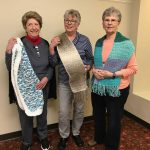 Scarves made by residents in Stitch This!