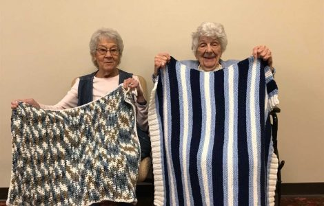 The Watermark at East Hill Residents Share the Love of Knitting with Those in Need